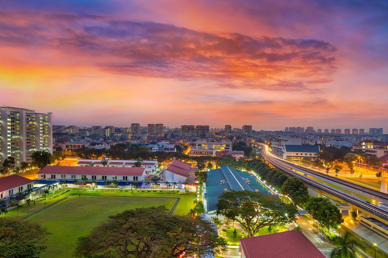 HDB landscape in Singapore
