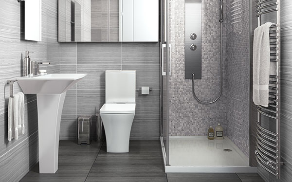 Classy, modern bathrooms will help you increase rental income