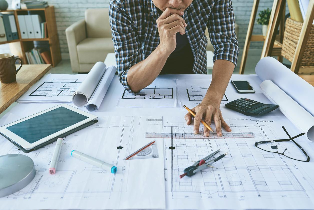 Man planning his home renovation