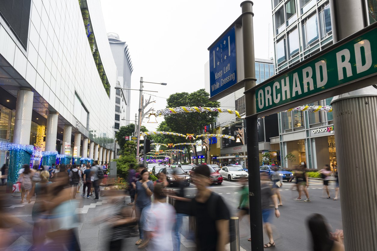 Orchard Road during festive season