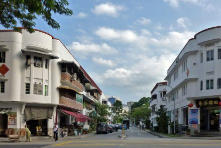 A street in the hip neighbourhood of Tiong Bahru