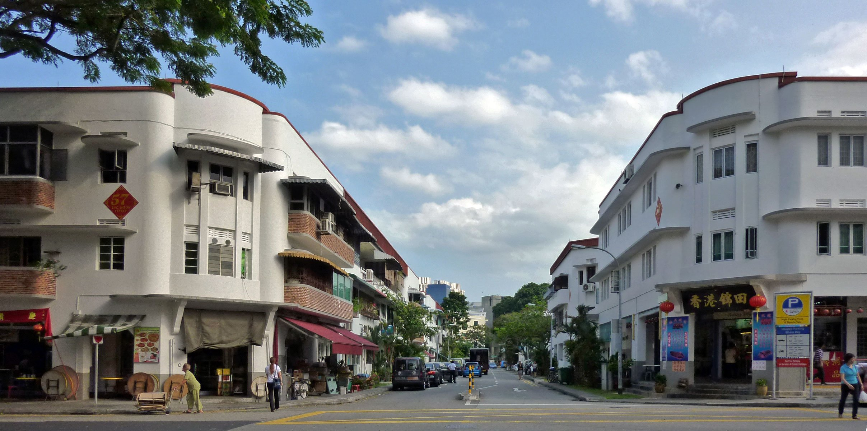 A street in the hip neighbourhood of Tiong Bahru