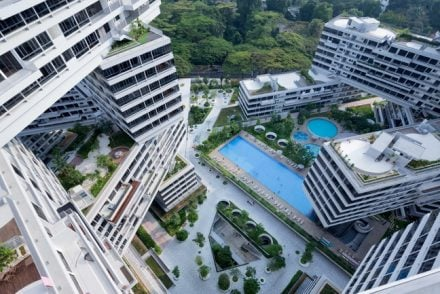 Award winning condo, Interlace in Singapore