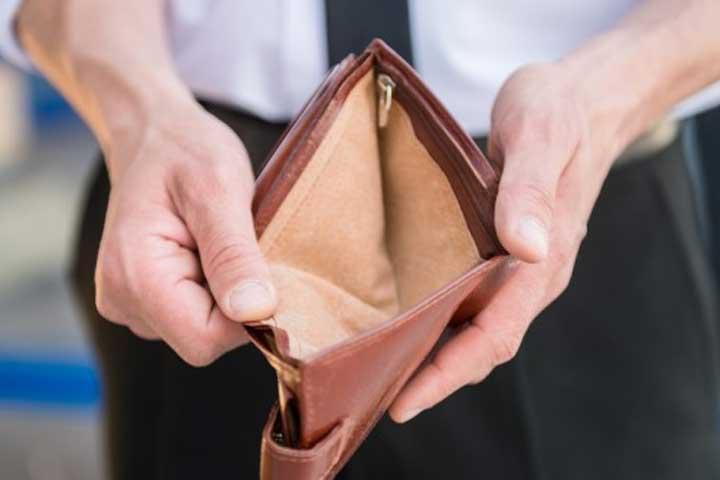 No money in wallet