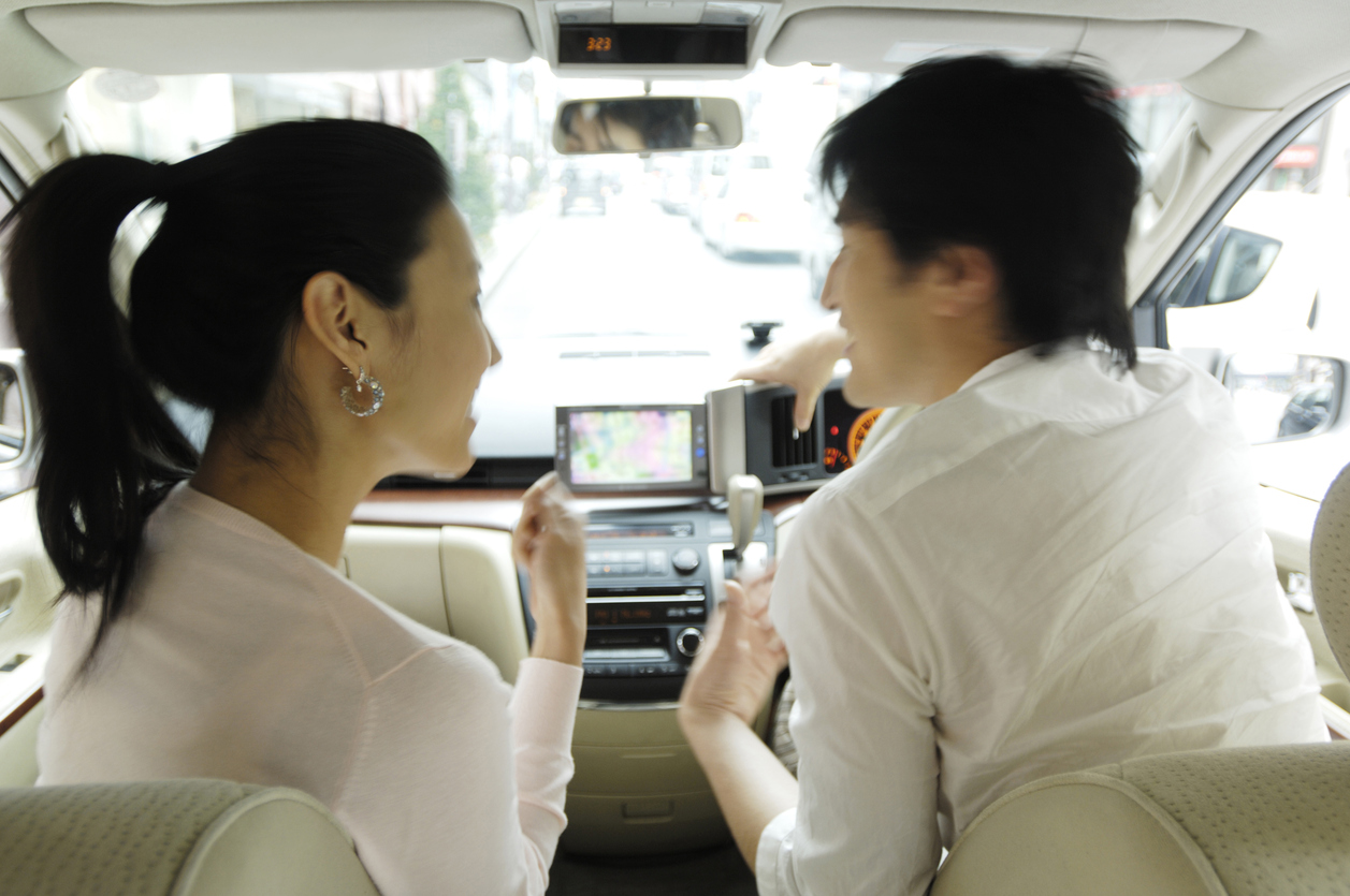 Agent and client in car