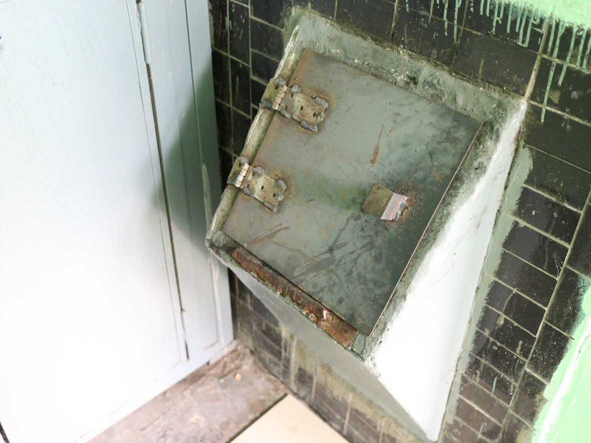 old garbage chute in condo