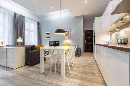 open concept kitchen living