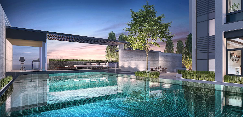 sixteen35 residences facilities lap pool