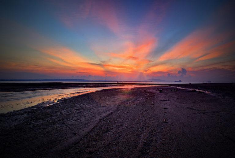 sunrise changi beach singapore