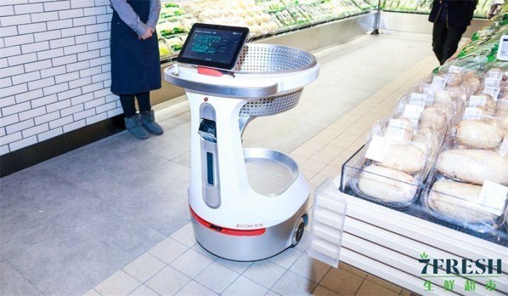 Self-driving supermarket cart
