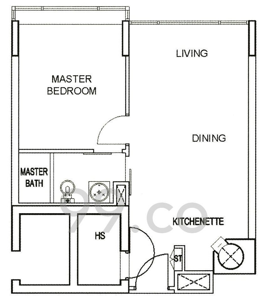 Tiny Condo Units Vida Floor Plan