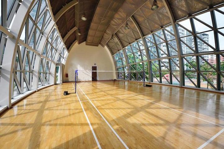 Condo sports facilities the minton badminton