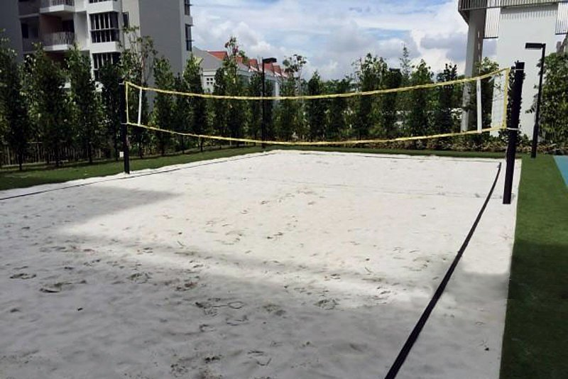 Condo sports facilities Ripple Bay beach volleyball court