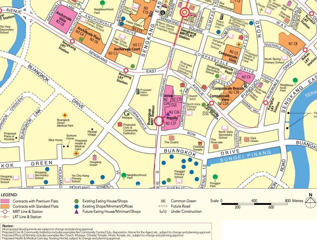HDB BTO flats Aspella map
