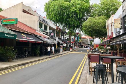 holland village is a popular enclave with eateries and watering holes
