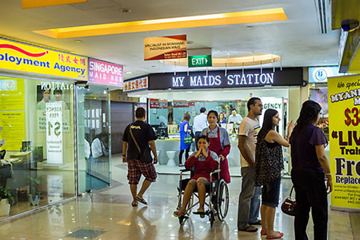 Neighbourhood shopping malls maid agencies
