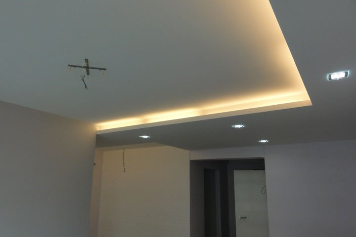 renovation tips false ceiling downlight cove light