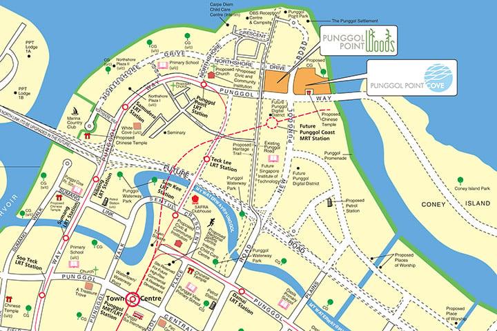 Aug 2018 BTO Punggol Town map