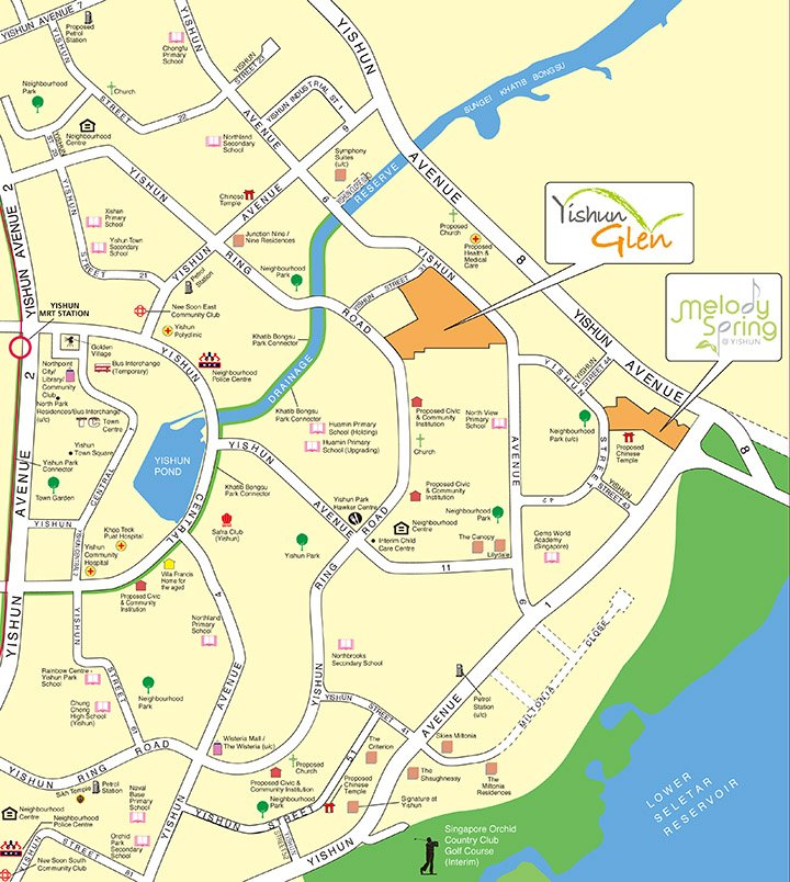 Aug 2018 BTO Yishun Map