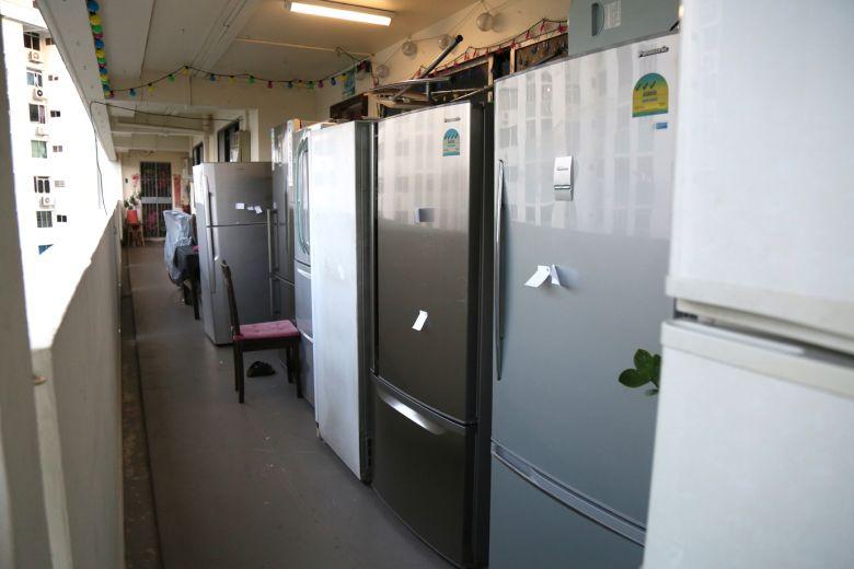 HDB flats koi pond refrigerator