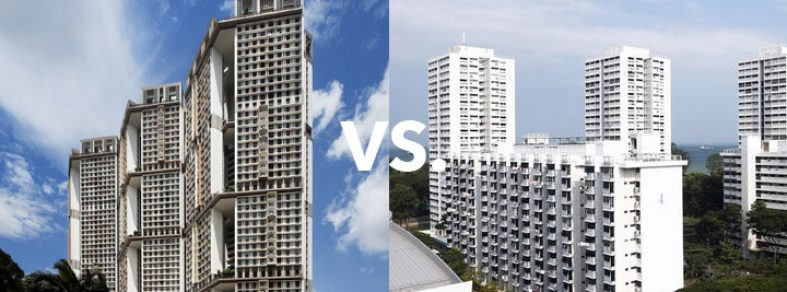 East vs West side of Singapore HDb