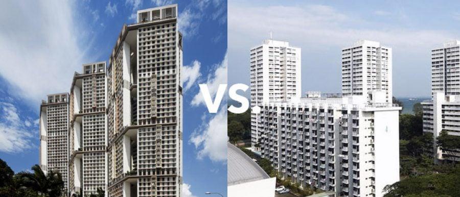 East vs West side of Singapore HDb