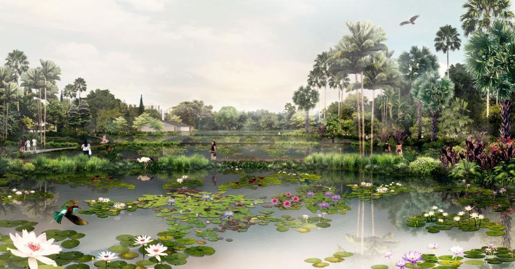West Side of Singapore Jurong Lake Gardens