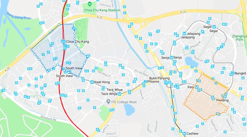 Choa Chu Kang Bukit Panjang map