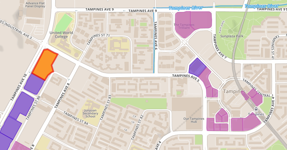 EC Tampines Ave 10 map