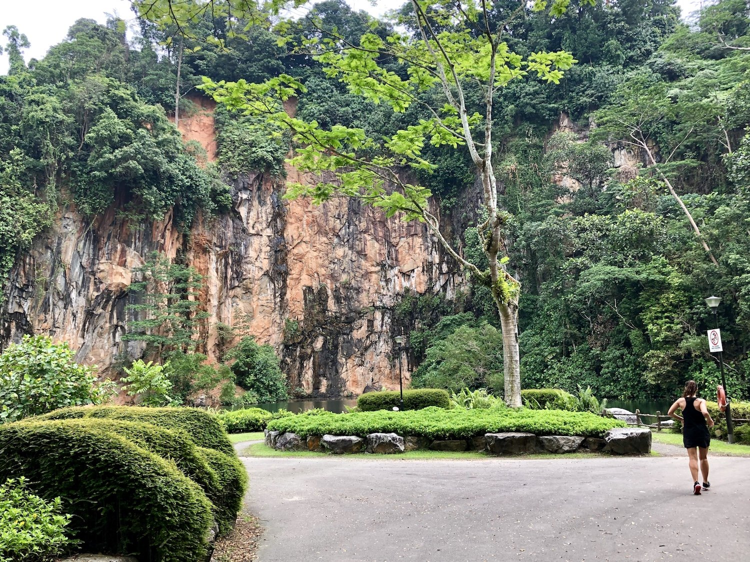 A disused quarry and World War II memorial can be found at Bukit Batok Nature Park