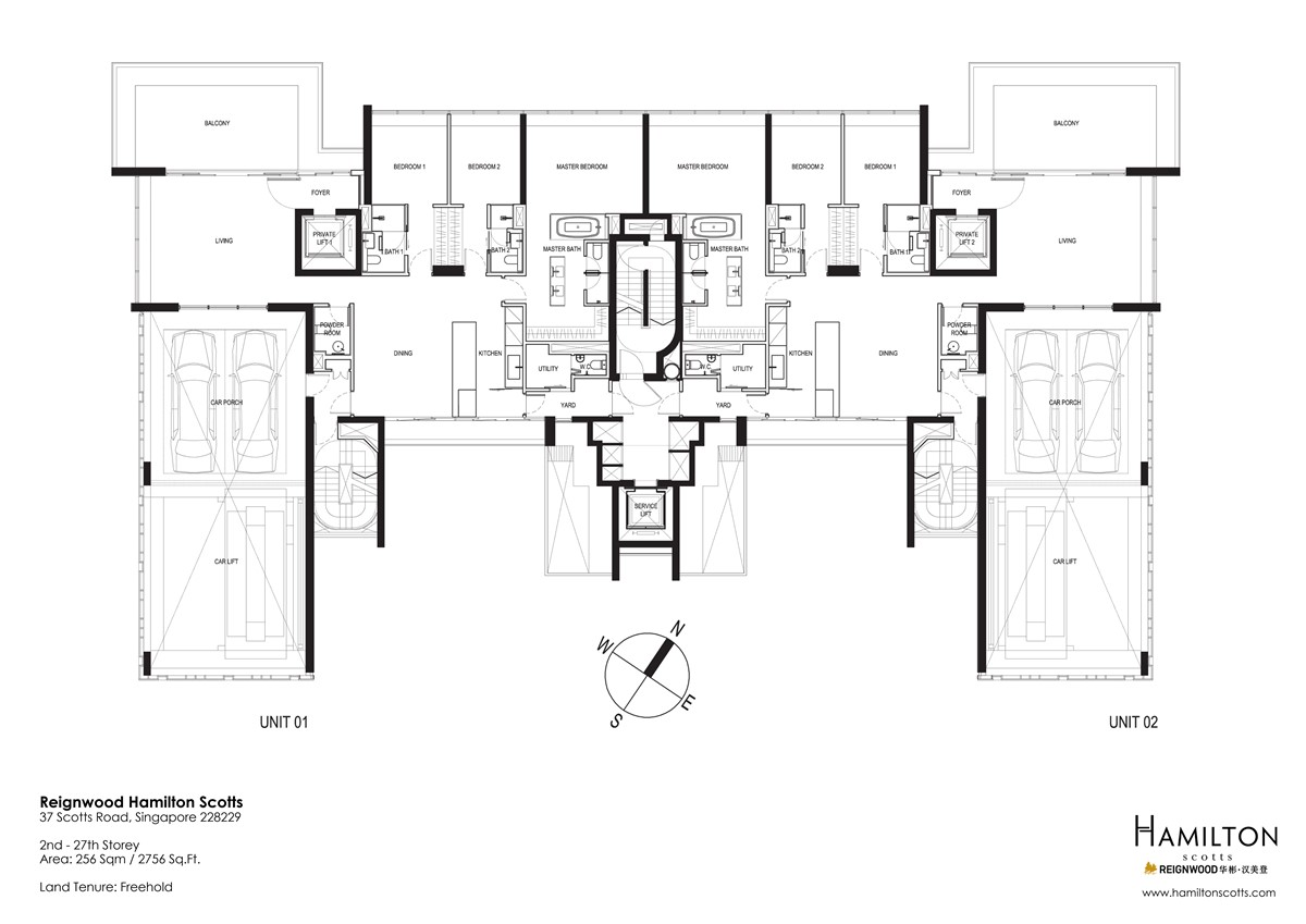 reignwood hamilton scotts condo floor plan