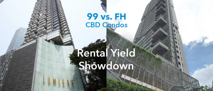CBD condos freehold 99-year rental yield