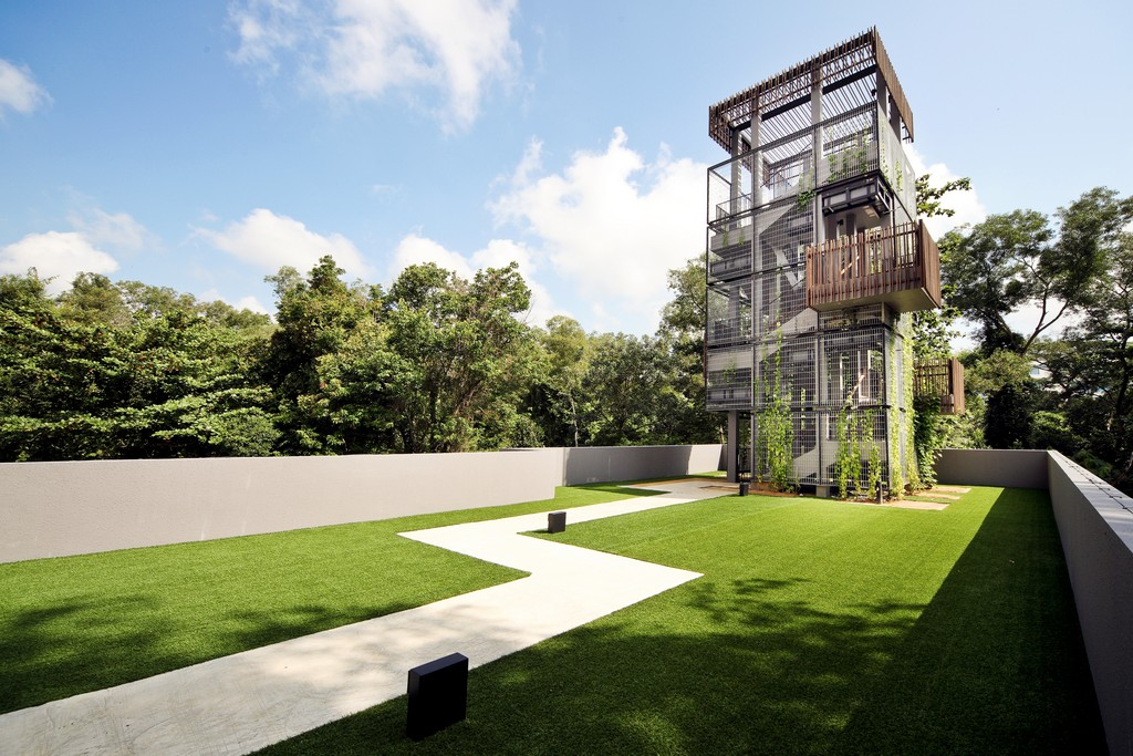 condos in Singapore nature lovers Meadows @ Pierce bird watching tower