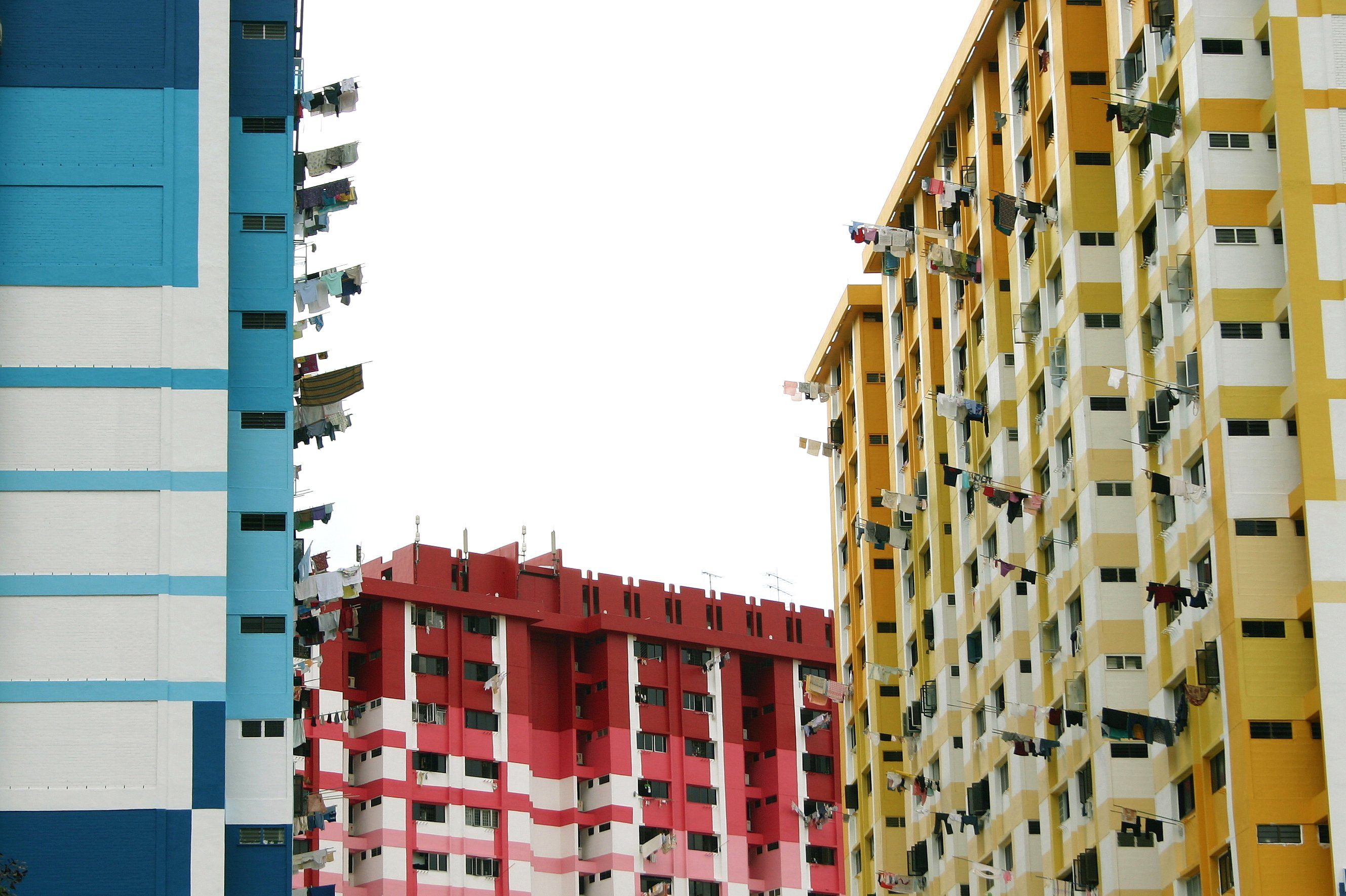 Old HDB flats in Rochor that were torn down