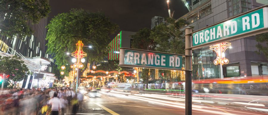 Junction of Orchard Road and Grange Road