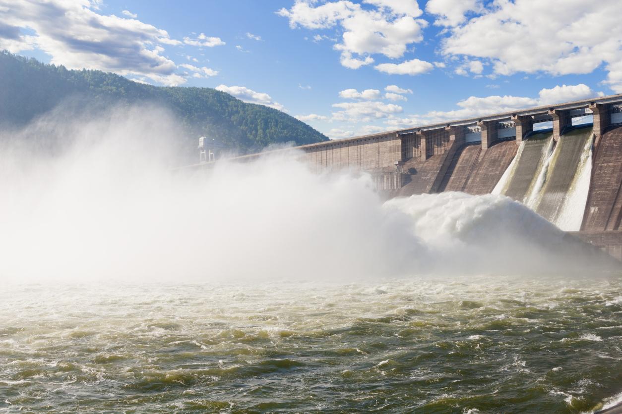 bursting dam