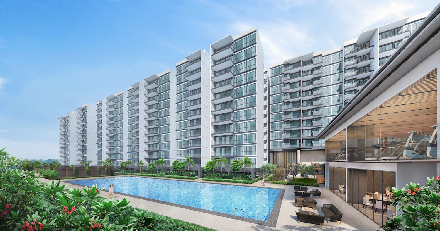 50m-lap pool and clubhouse at treasure at tampines