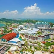 This is a view of Sentosa island in Singapore