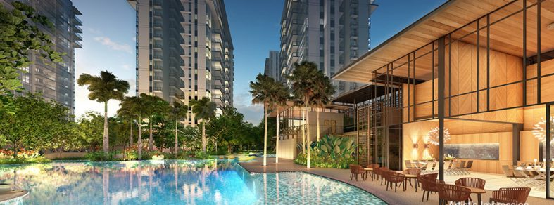 Have a swim at the 80m Island Lap Pool at The Florence Residences