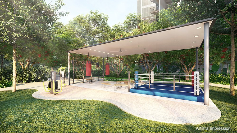 Workout classes at The Sparring Ring Pavilion at The Florence Residences