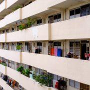 Corridors of an HDB block