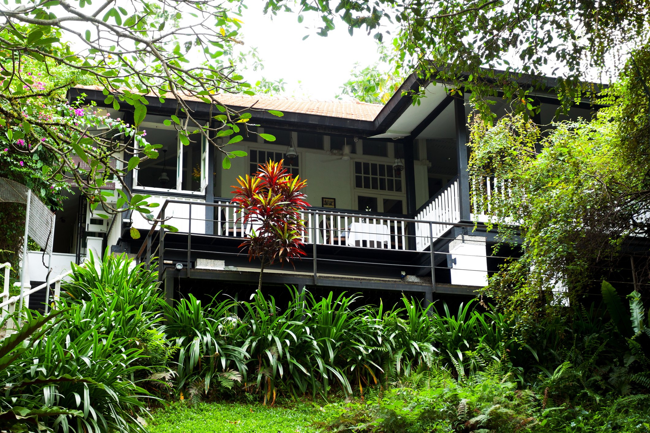 A bungalow at Fort Canning