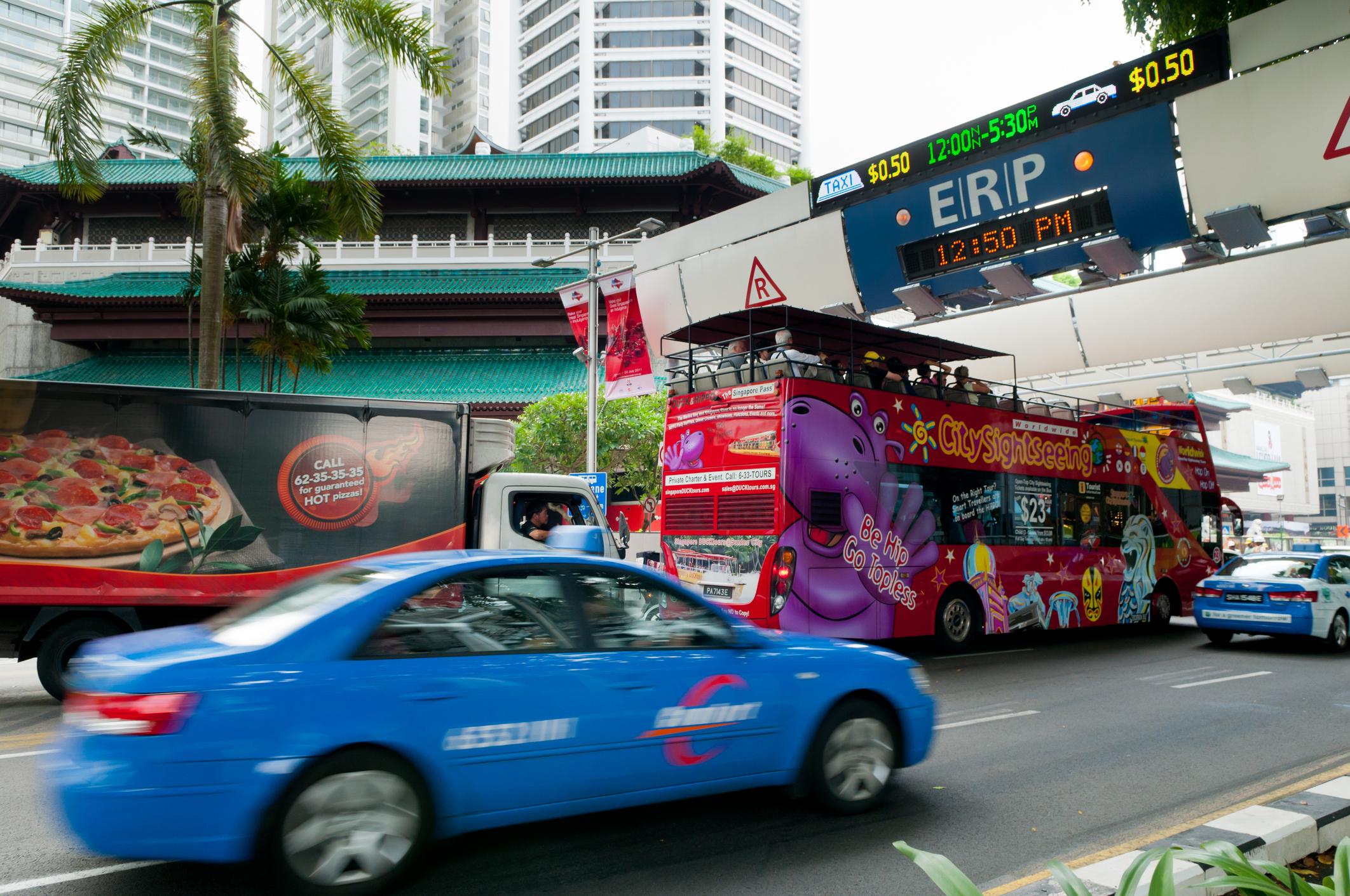 Taxi driving through ERP