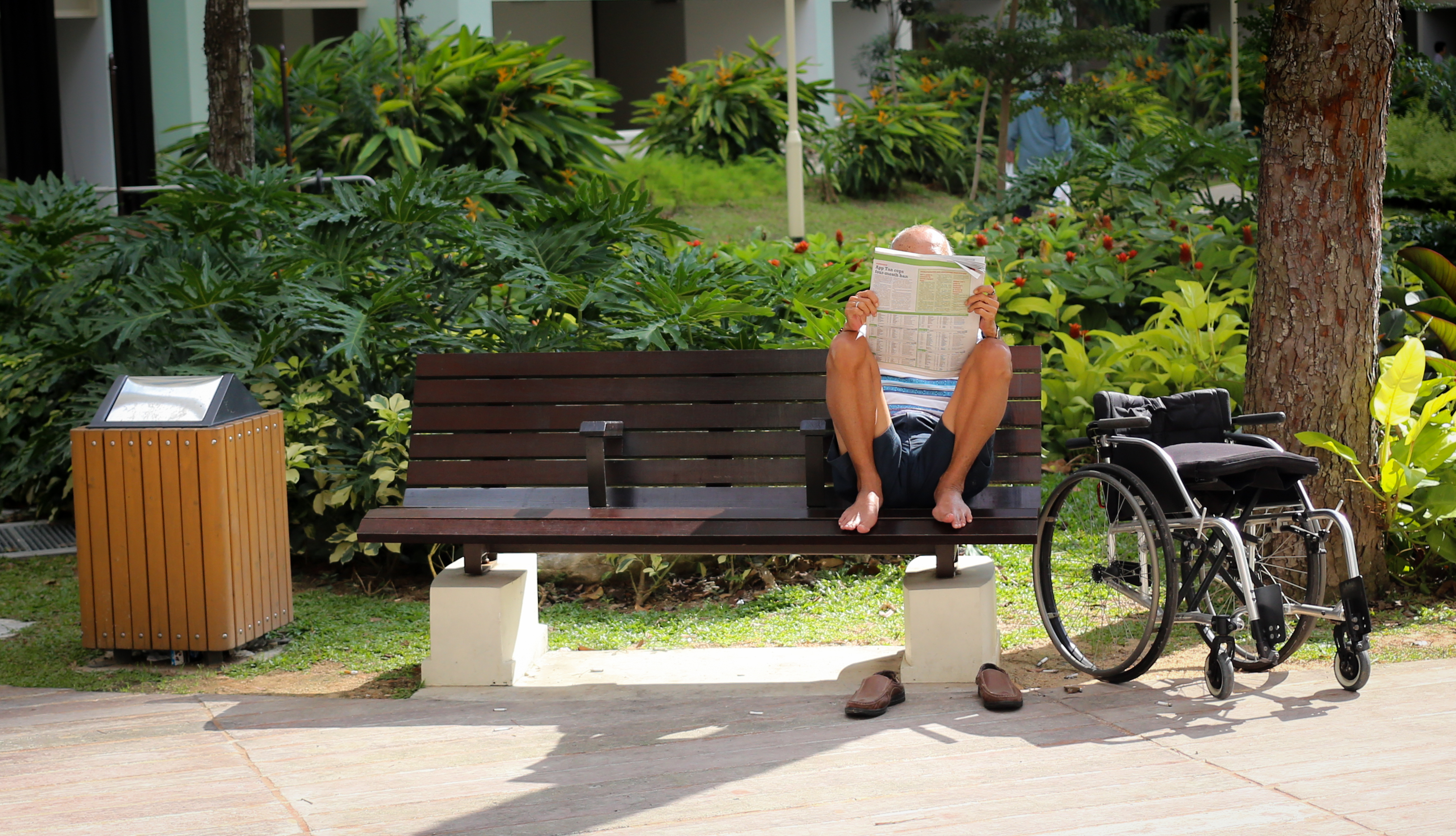 Man reading papers
