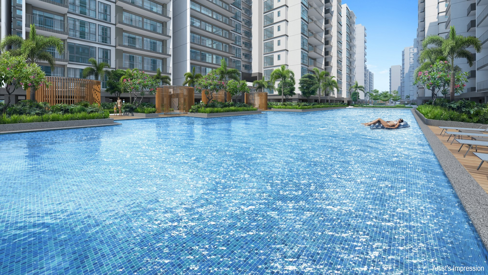 the 50m lap pool at treasure at tampines