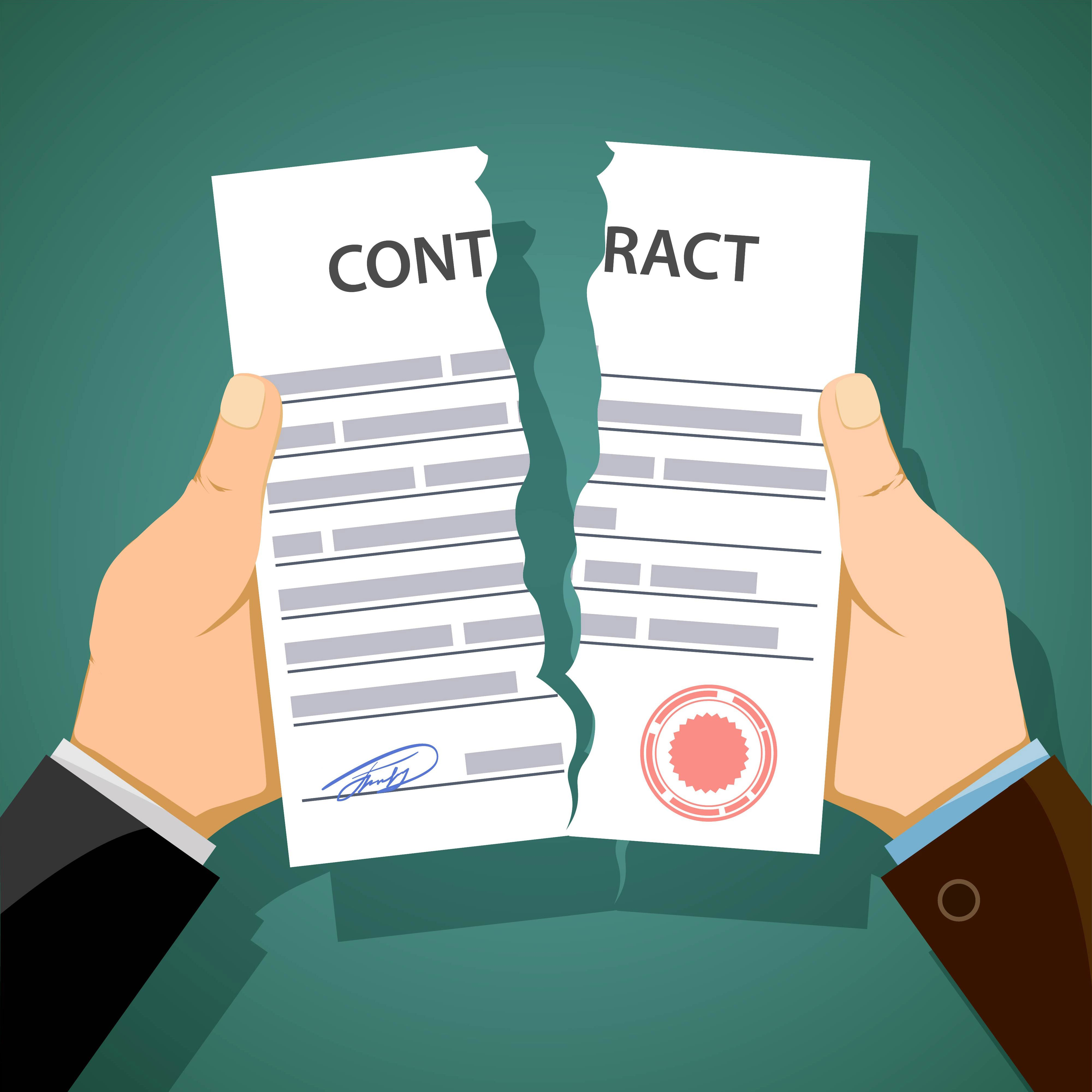 Tearing a contract