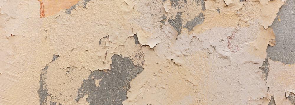 Paint on wall peeled.