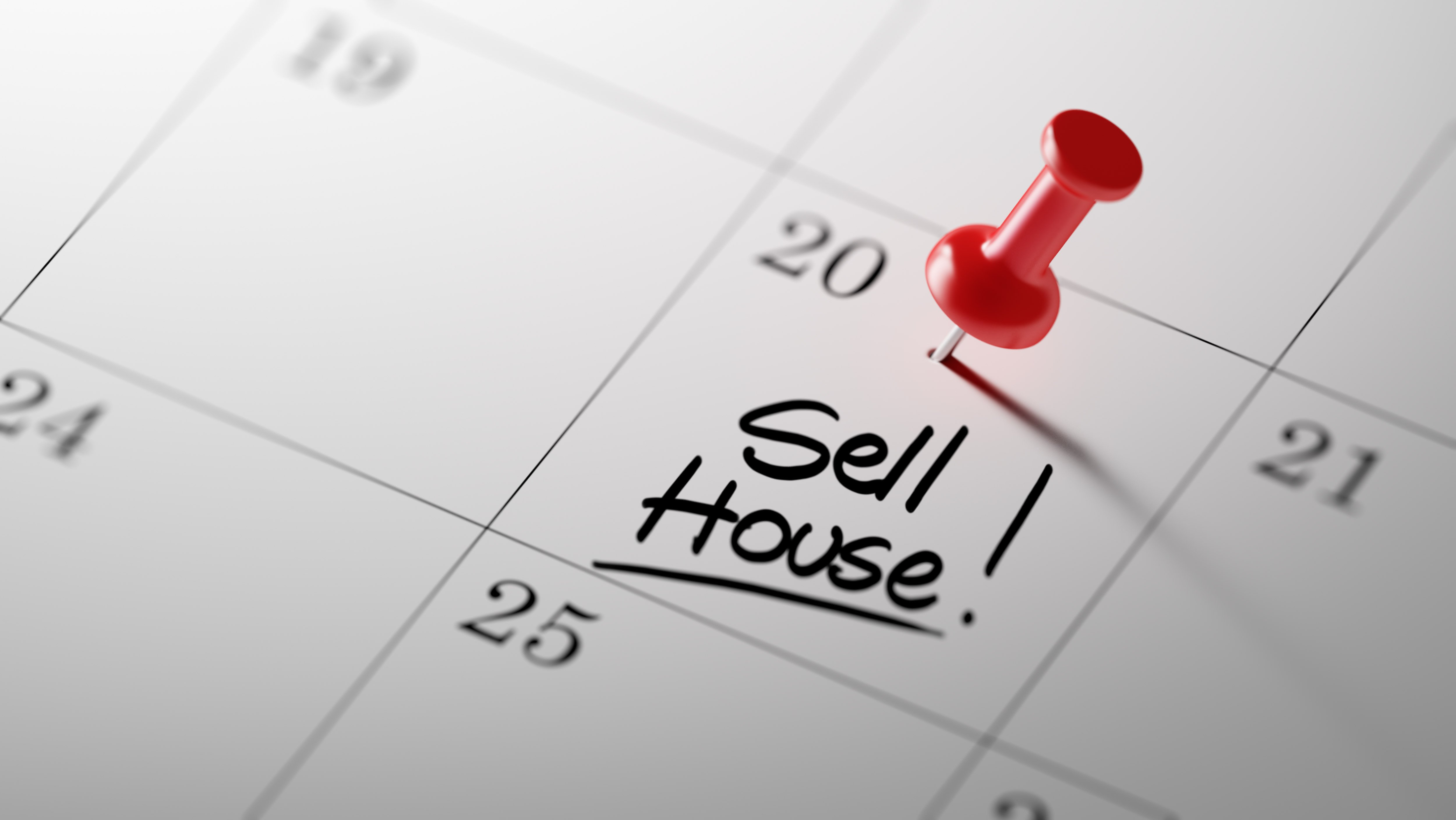 Sell house marked on calendar