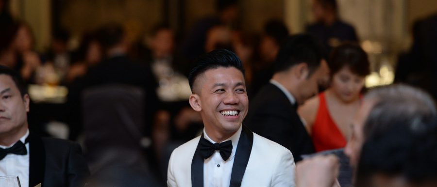 Kevin Lim at a gala dinner