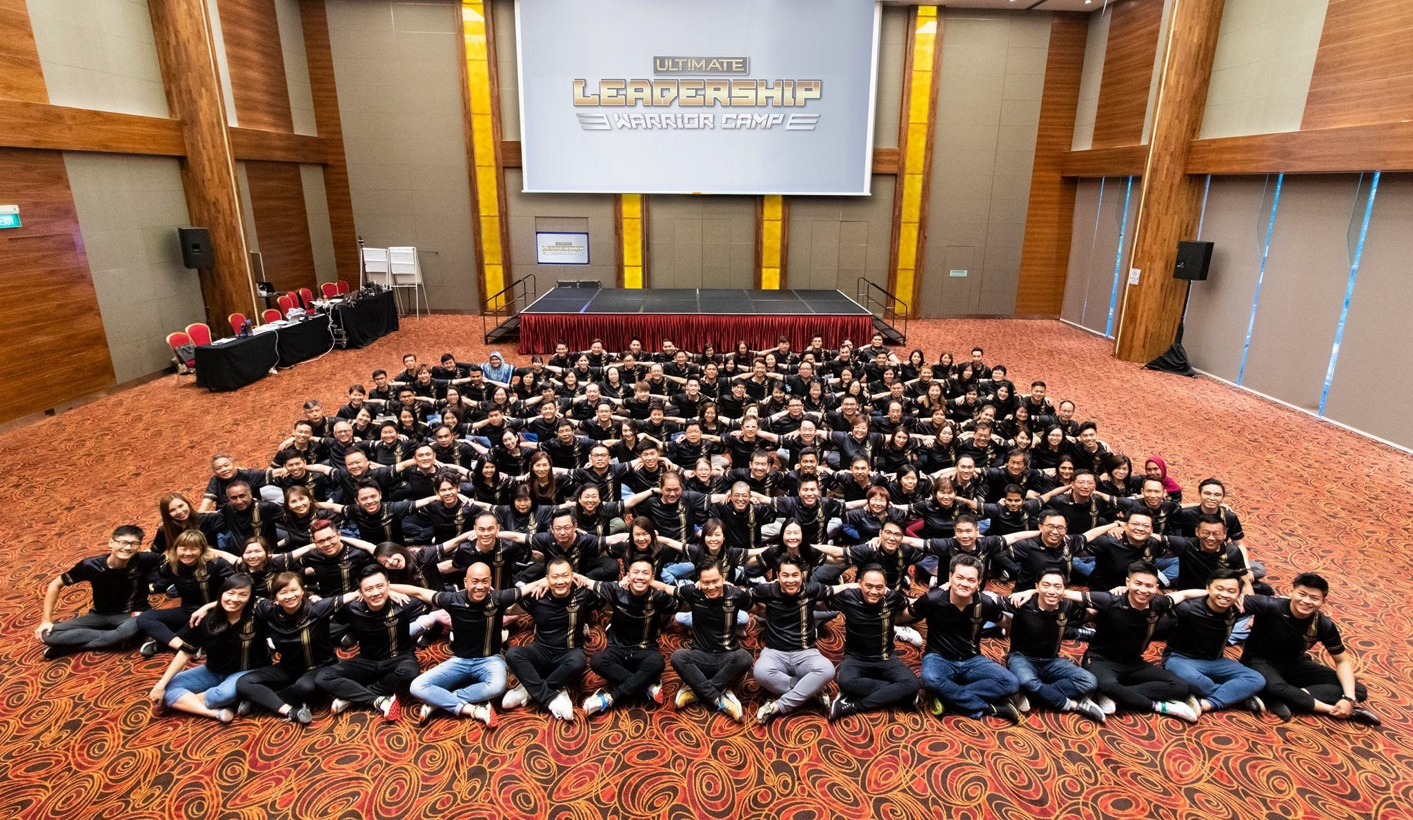 Kevin Lim training agents at ERA's 2019 Ultimate Leadership Warrior Camp